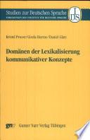 Domänen der Lexikalisierung kommunikativer Konzepte