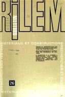 Bulletin RILEM.