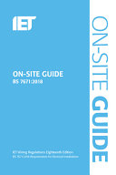 On-Site Guide (BS 7671:2018) : low-voltage installations, temporary electrical installations,...