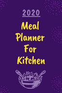 2020 Meal Planner For Kitchen