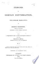 Exercises of German Conversation  with English translations  With some remarks on Riding