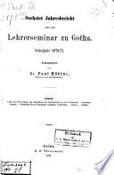Jahresbericht des Herzoglichen Lehrerseminars zu Gotha
