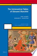 The Astronomical Tables of Giovanni Bianchini