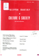 Philippine Quarterly of Culture and Society