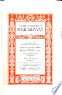 The Sufistic quatrains of Omar Khayyam in definitive form
