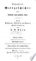 Allgemeine Weltgeschichte. Nach Eichhorns, Gallettis und Renners Werken bearb. 3., verb. und verm. Aufl