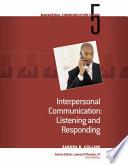 Module 5  Interpersonal Communication Listening and Responding