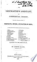 The Shipmaster's Assistant, and Commercial Digest