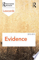 Evidence Lawcards 2012 2013