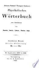 Physikalisches W  rterbuch  neu bearbeitet von Brandes  Gmelin  Horner  Muncke  Pfaff