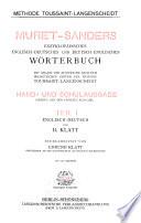Muret Sanders enzyklopadisches englisch deutsches und deutsch englisches Worterbuch