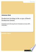 Production Leveling In The Scope Of Bosch Production System book