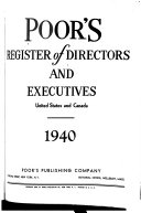 Poor's Register of Directors and Executives, United States and Canada