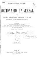 Diccionario universal de la lengua castellana, ciencias y artes