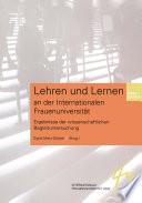 Lehren Und Lernen An Der Internationalen Frauenuniversit T