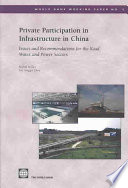 Private Participation in Infrastructure in China
