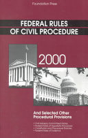 Federal Rules on Civil Procedure 2000