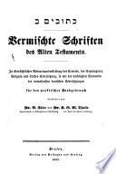 Polyglotten-Bibel zum praktischen Handgebrauch: pt. 1. Die poetischen Bücher