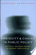 Ambiguity and Choice in Public Policy