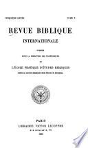 Revue biblique internationale