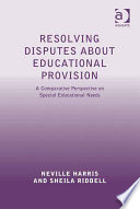 Resolving Disputes about Educational Provision