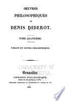 Oeuvres philosophiques  Romans et contes philosophiques
