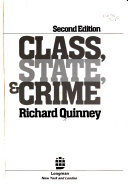 Class, State, & Crime
