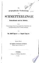 Die geographische Verbreitung der Schmetterlinge Deutschlands und der Schweiz