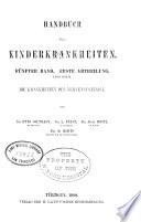 Handbuch der Kinderkrankheiten v. 5