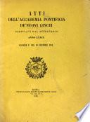 Atti della Pontificia accademia delle scienze
