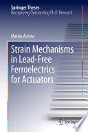 Strain Mechanisms in Lead Free Ferroelectrics for Actuators