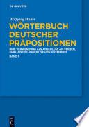 W Rterbuch Deutscher Pr Positionen