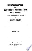 Biografie dei Capitani Venturieri dell Umbria