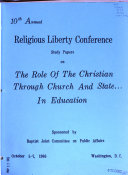 Papers and Proceedings of the Religious Liberty Conference