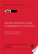 Applied Linguistics   Communities of Practice