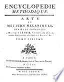 Encyclop  die M  thodique  Arts Et M  tiers M  caniques