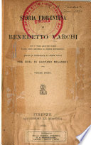 Storia Fiorentina Di B Varchi