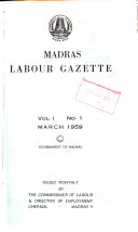 Madras Labour Gazette