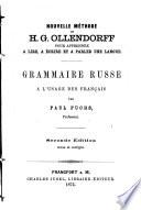 Nouvelle m  thode de H  G  Ollendorff pour apprendre    lire       crire et    parler une langue