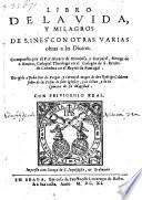 Libro de la vida y milagros de S  Ines