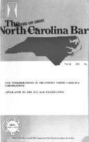 The North Carolina Bar