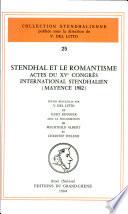 Stendhal et le romantisme