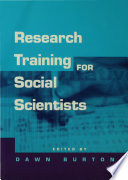Research Training For Social Scientists book