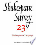 Shakespeare Survey book