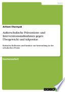 Außerschulische Präventions- und Interventionsmaßnahmen gegen Übergewicht und Adipositas