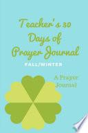 Teacher S 30 Day Prayer Journal