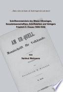 Schriftenverzeichnis des Wiener Ethnologen, Sexualwissenschaftlers, Schriftstellers und Verlegers Friedrich S. Krauss (1859-1938)