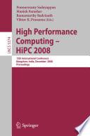 High Performance Computing   HiPC 2008