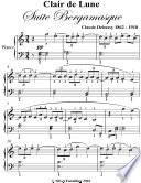 Clair de Lune Suite Bergamasque Elementary Piano Sheet Music