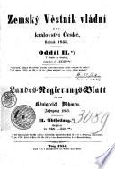 Landes-Regierungs-Blatt für das Königreich Böhmen